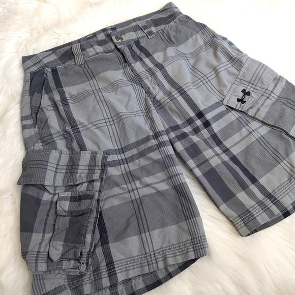 Under Armour Men's Grey Cargo Shorts Underarmour
